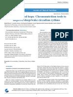 Tryptophan and Hops Chrononutrition Tools to Improve Sleep Wake Circadian Rythms