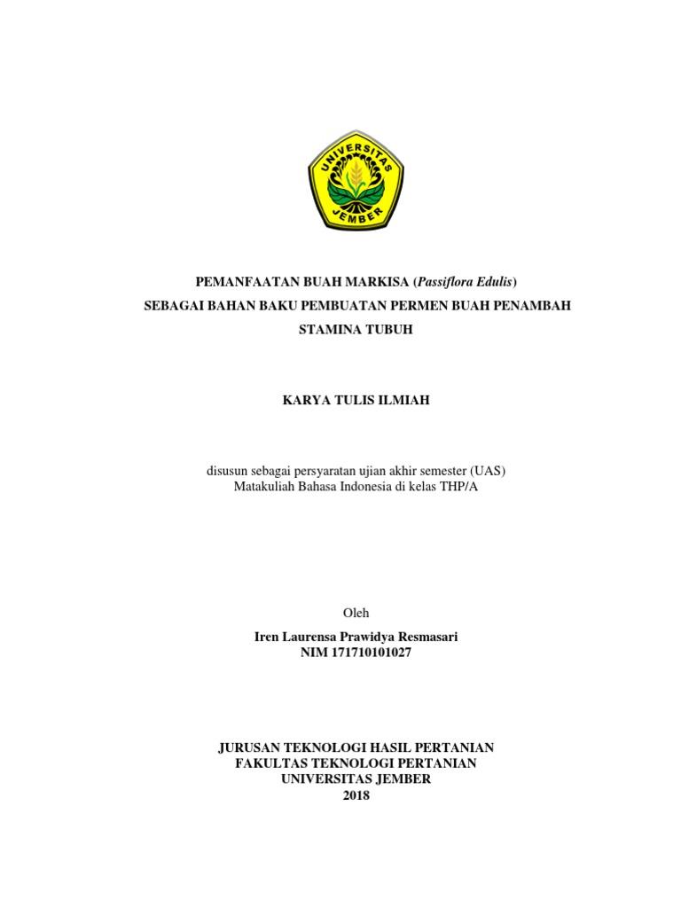 Karya Tulis Ilmiah Bismillah Cover Dkk