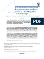A Community-Based Study of Coverage and Determinants of Immunization in Children Aged 1 to 3 Years in a Rural Population of Muzaffarnagar
