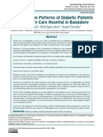 Hospitalization Patterns of Diabetic Patients in a Tertiary Care Hospital in Bangalore