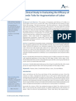 A Clinical Study in Evaluating the Efficacy of Eranda Taila for Augmentation of Labor