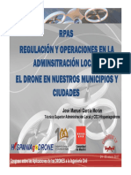 Civildron17-04 RPAS Regulacion y Operaciones en La Administracion Local El Dron en Nuestros Municipios y Ciudades HISPANIAGODRONE Fenercom-2017