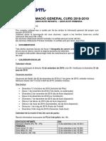 Informació General Pel Curs 2018 19 EI EP