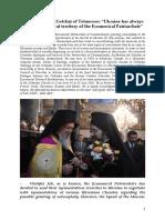 Archbishop Job (Getcha) of Telmessos - Interview History English