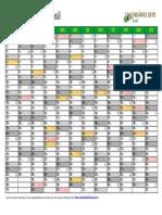 Calendario 2019 Brasil