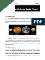 Geologi Dinamis - Bumi Sebagai Planet