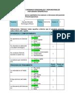 Registro de Criterios Funcionales y Disfuncionales Por Sesion Terapeutica