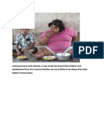 Linking Poverty With Obesity