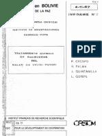 Obtencion de Carbonato de Litio - Bolivia (ORSTOM)