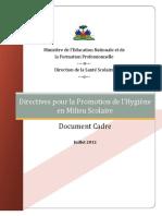 1.02 Directives Promotion Hygiène DSS