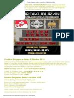 Prediksi Singapura Sabtu 6 Oktober 2018