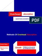 Overhead Absorption-questions