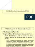 5.3 Clasificacion Herramientas Case