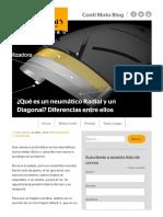 Diferencias Entre Neumáticos Radial y Diagonal