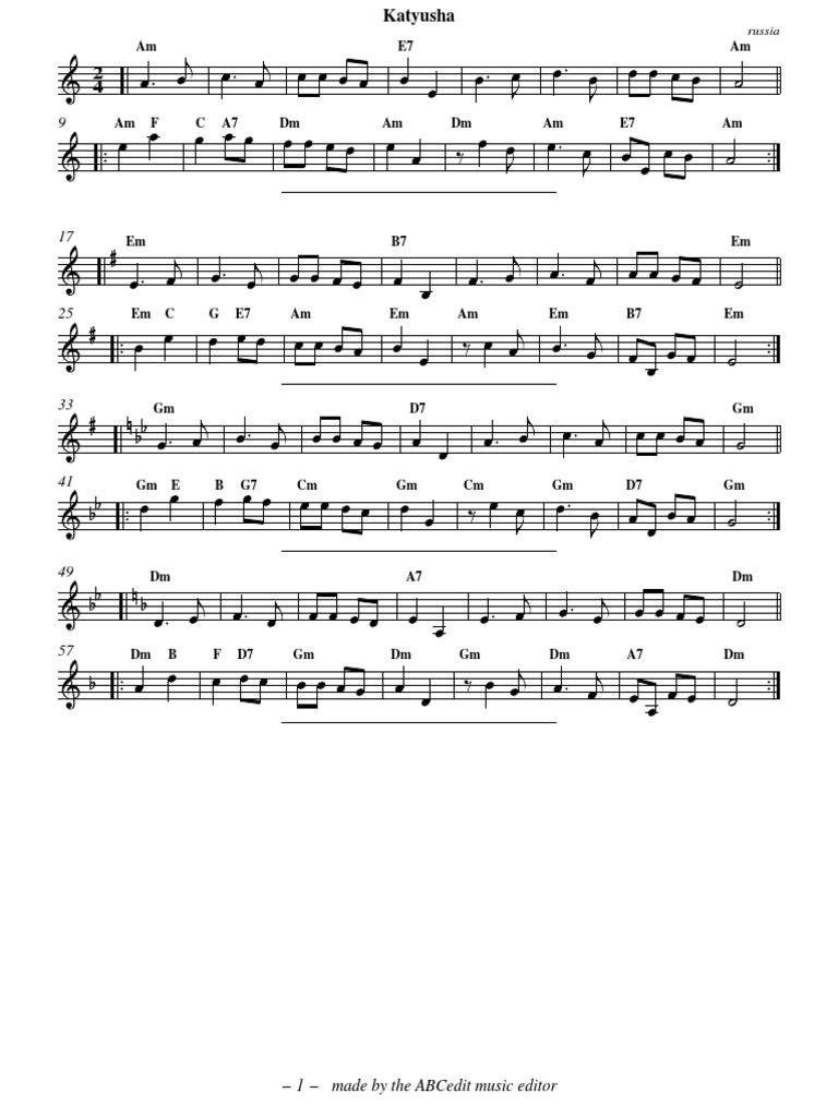 katyusha pdf