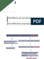 Μετάδοση και αντιμετώπιση των παθογόνων μικροοργανισμών