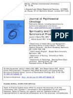 Journal of Psychosocial Oncology Volume 22 Issue 2 2005 [Doi 10.1300%2FJ077v22n02_03] Bowie, Janice v.; Sydnor, Kim Dobson; Granot, Michal; Pargament, -- Spirituality and Coping Among Survivors of Pro