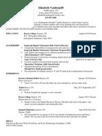 educational capstone resume