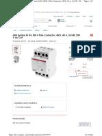 ABB 4 Pole Contactor, 230V, 40A