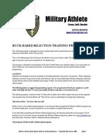 Ruck-based Selection Training Program