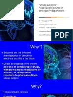 Drugs & Toxins Associated Seizures in Emergency Departments