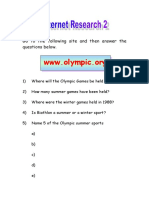 Internet Research Olympics