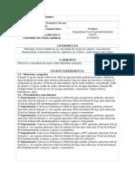 Relatório de Química - Velocidade das reações químicas