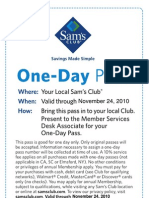 Sam's club pass