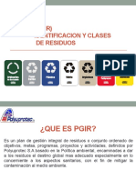 Identificación y Clases de Residuos