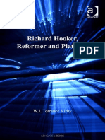 W. J. Torrance Kirby Richard Hooker, Reformer and Platonist