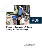 21974814 Leadership Case Study on Saurav Ganguly