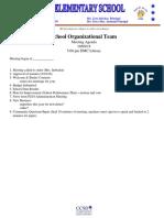 SOT Mtg Agenda 10-9-18