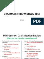 grammar throw down 2018