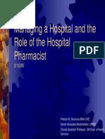 Role of the Hospital Pharmacist2!16!06 Slides