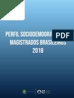 Perfil sociodemográfico CNJ 2018