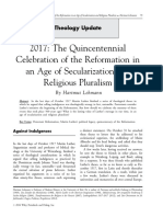 The Quincentennial Celebration of the Reformation in an Age of Secularization and Religious Pluralism