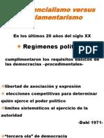 Presidencialismo Versus Parlamentarismo