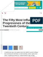 50 Most Influential progressives of 20th century.