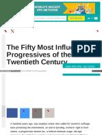 50 Most Influential progressives of 20th century.
