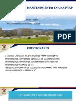 Operación y Mantenimiento de PTAP