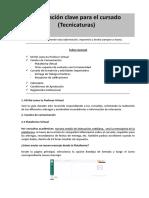 Información Clave Para Alumnos - (TECNICATURAS) 2A-2