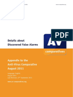 Avc Fp Aug2011False Alarm Test