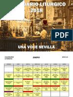 Calendario Liturgico Tradicional Digital 2018 Una Voce Sevilla