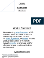 What is Corrosion