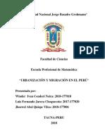 Urbanización y Migración en El Perú (2)