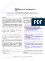 D3307-10 Standard Specification for Perfluoroalkoxy (PFA)-Fluorocarbon Resin Molding and Extrusion Materials