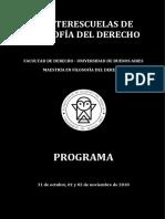 Programa - IV Interescuelas de Filosofía Del Derecho