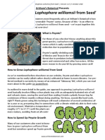 Arkham's Botanical - 'How to Grow Lophophora Williamsii From Seed' (Peyote growing guide/overview)