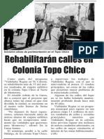 05-10-18 Rehabilitarán calles en Colonia Topo Chico