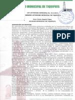 Ley Municipal Juventudes de Tiquipaya 013.2015